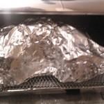 オーブントースターで温めたもう半分