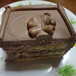 カットしたチョコレートケーキ