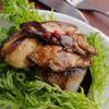 ゴールデンミートバル - 料理写真:『フォアグラと大根のステーキ』フォアグラと大根を特製ソースでひとつの料理にまとめました。食べ応えあるフォアグラをご賞味ください。