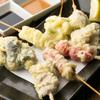 とらたま - 料理写真:新名物!うどん屋の串天。旬の素材をからりと揚げます。