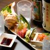 恵比寿BAR - 料理写真:全国から直送で鮮度抜群の『産地直送お造り5点盛り』
