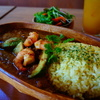 アイリーカレーハウス - 料理写真:女性に人気の、エビ&アボカド&チーズの最強trio!