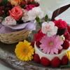 レストラン花の館 パラディ北野 - 料理写真:オプションではフラワーケーキもご用意いたします。