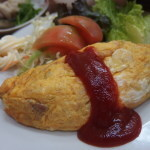 懐かし昭和のオムレツ定食