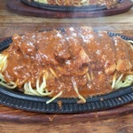 釧路でスパゲティ...鉄板でじゅうじゅうです(>_<)