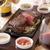 フラワーズコモン - 料理写真:ロゼ色に仕上げたジューシーなサーロインステーキ!4種のオリジナルソースでお召し上がりください。