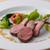 ル・タン・メルヴェイユ - 料理写真:表面はカリッと中はロゼ色に!絶妙な焼き加減がおいしさの秘訣♪
