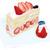 フォーシーズンズカフェ - 料理写真:4月限定 クラウンメロンと国産苺のプレミアムジャンボショートケーキ