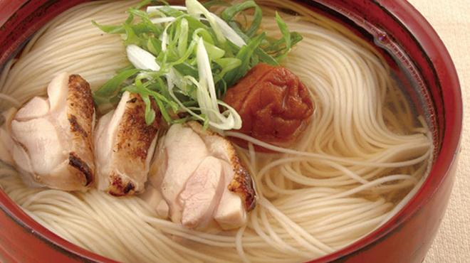 豆助 - 料理写真:地鶏昆布だしにゅうめん 680円