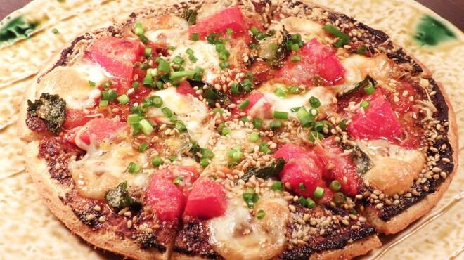 海華月 - 料理写真:しらすと大葉とトマトの和風マルゲリータピザ
