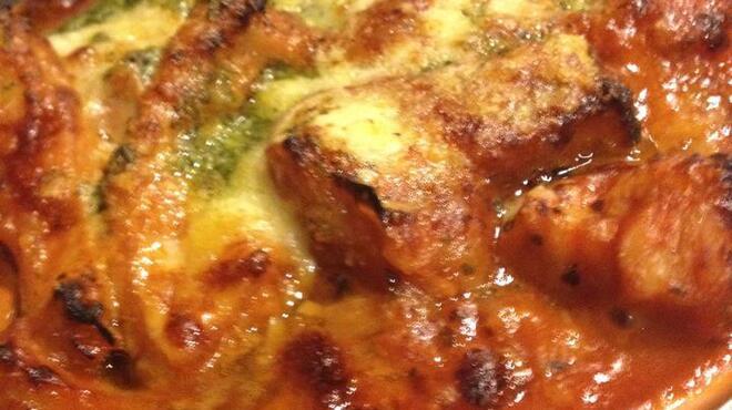 ルフージュ - 料理写真:トリッパのトマト煮込みグラタン♪