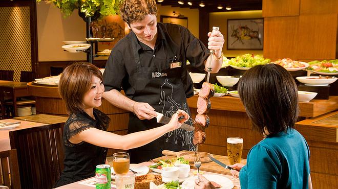 バルバッコア - 料理写真:目の前でお肉をお切りします。