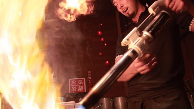 札幌 炎神 - 料理写真:1300度の炎の力が、トロリとして芳醇な風味を引き出す!