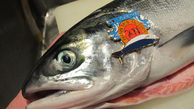 開陽亭 - 料理写真:1万本に1本の幻の鮭「鮭児」入荷!上質なあぶらのりを実感して下さい!