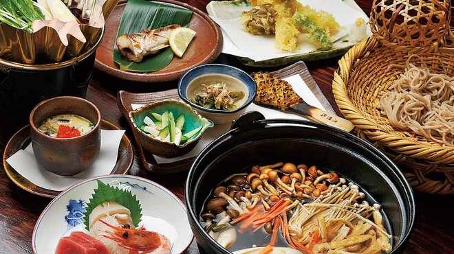 みよ田 - 料理写真:とうじそば付きの宴会料理2,800円コースの一例です