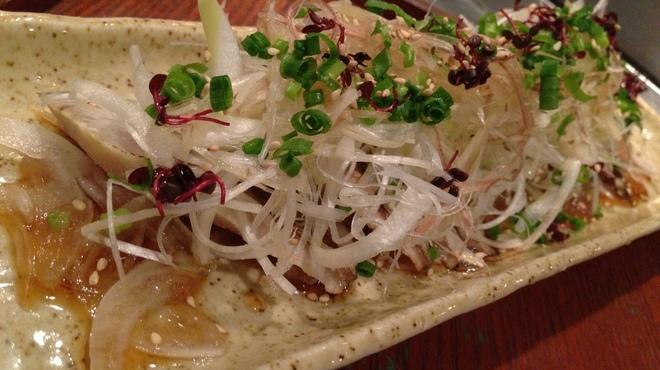 庵狐 - 料理写真:鮮魚の薬味ポン酢