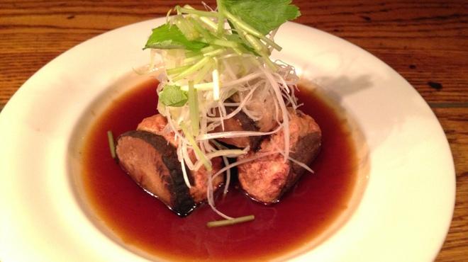 庵狐 - 料理写真:肉厚しいたけの肉詰めステーキ
