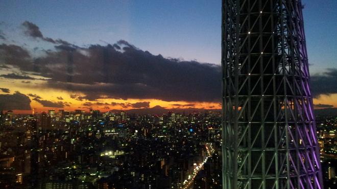 國見 - 内観写真:冬の初めに撮れた夕日です