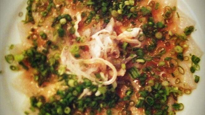 トミガヤ テラス - 料理写真:下関産トラフグのカルパッチョ