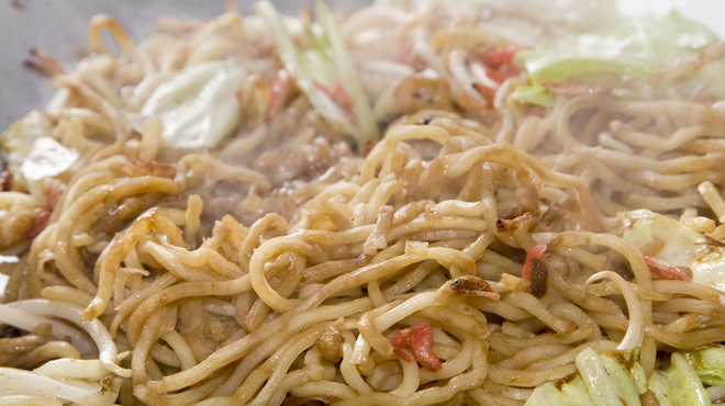 もじ焼や - 料理写真:特注こだわり麺で作った焼きそば