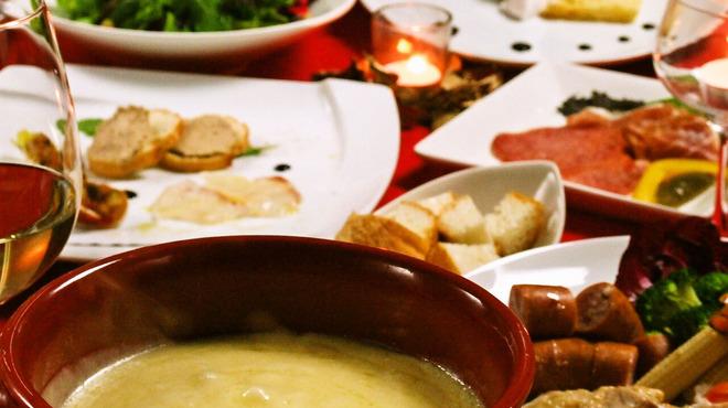 バンブー - 料理写真:チーズフォンデュコース