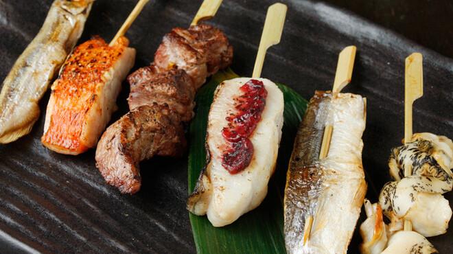 魚串さくらさく - 料理写真:魚串盛合わせ(1例)