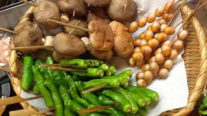 地鳥屋風神雷神 - 料理写真:新鮮野菜!ぎんなんの皮むき一苦労(^_^)