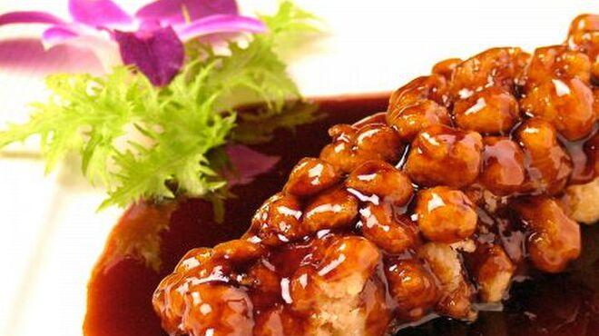 全聚徳 - 料理写真:鮮魚の甘酢ソースがけ(半身)