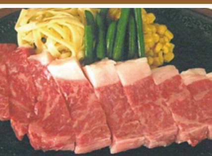 モンブラン - 料理写真:和牛サーロインステーキ和牛250g 特性醤油味(ミニサラダ付)¥2,980(税込¥3,129)