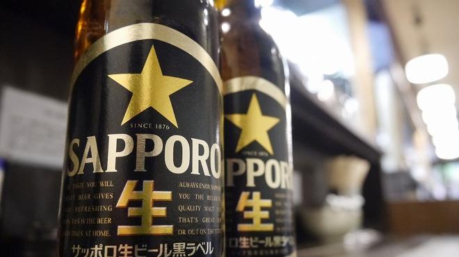 藤しろ - 内観写真:サッポロ黒ラベル、他、ヱビスビールもあります。