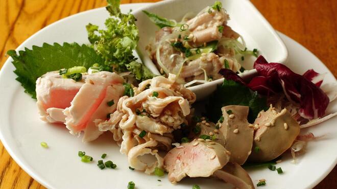 wabisuke - 料理写真:鶏の刺身四種盛り