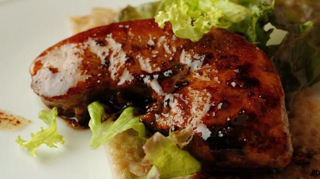 wabisuke - 料理写真:フォアグラのソテー バルサミコソース