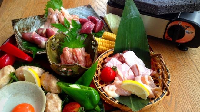 鶏匠 たけはし - 料理写真:夏の特別メニュー 特選鶏石焼七種盛り