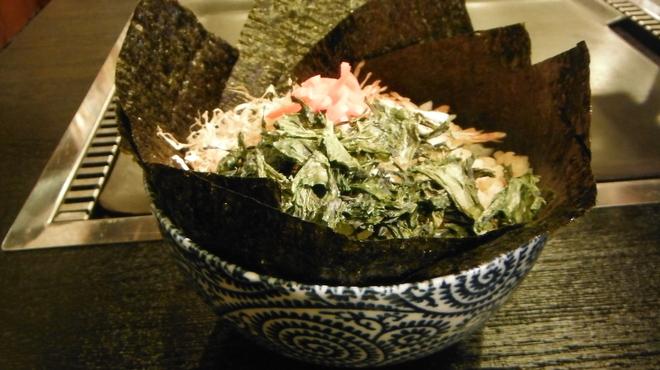 てっぱん大吉 - 料理写真:浅草のりもんじゃ  1180円
