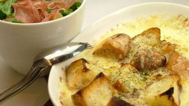 アオ - 料理写真:シーザーサラダ『温』 女性に大人気のメニューです。必ず注文してくださいね。
