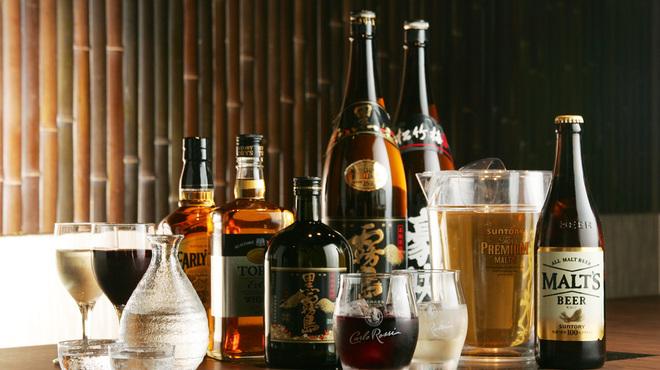 牛禅 - その他写真:【飲み放題】も充実!ビール、焼酎はもちろん、日本酒やワイン、カクテル、ソフトドリンクもOK