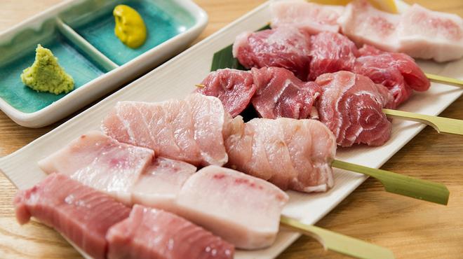 まぐろナルド - 料理写真:色々!!マグロの部位串焼き盛り合わせ 1番人気