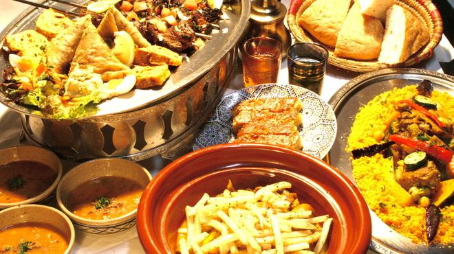 モロッコ料理カサブランカ - 料理写真:シェフのおまかせコース 各種3500円タジンやクスクスカバブなどモロッコの代表的なメニューが満載です♪