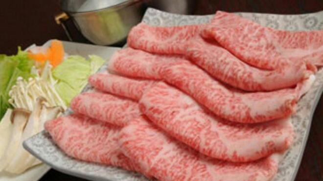 沙蘭 - 料理写真:沙蘭特選しゃぶしゃぶセット。選び抜かれたお肉は口の中でとろけます。特製のアサヒポン酢で
