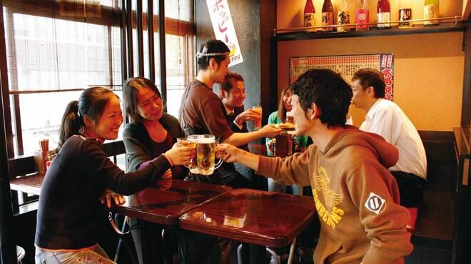 ます家 芝大門店 - 内観写真:座っても飲めます