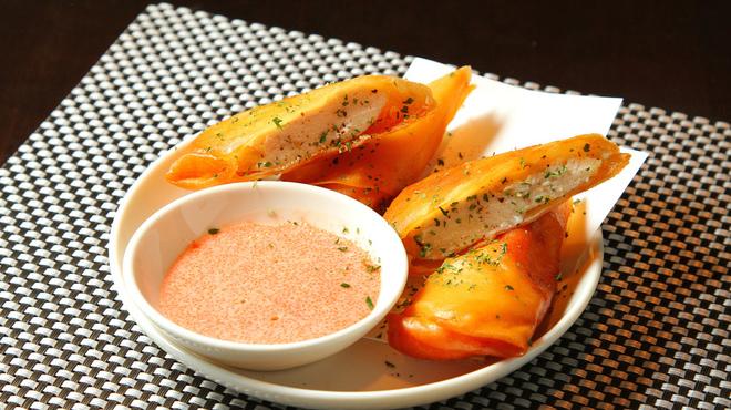 ばりすた - 料理写真:ササミチーズ春巻き