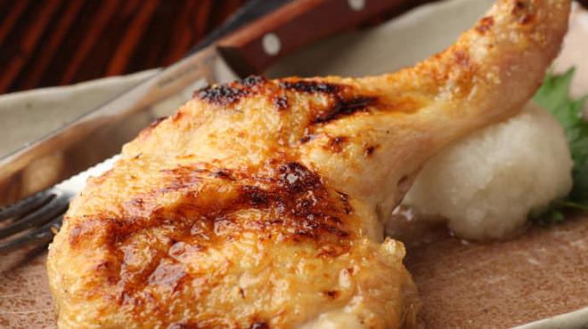 鳥あさ - 料理写真:骨付きもも肉の塩焼き