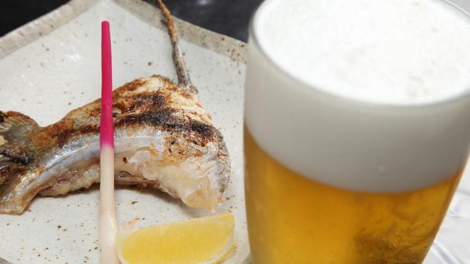いそ勘 - 料理写真:気軽な晩酌セット(生ビール+店長厳選1品)840円