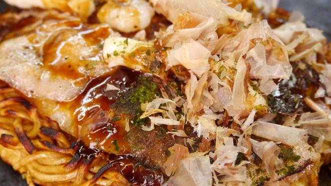 あべとん - 料理写真:【ミックスモダン】お好み焼と焼きそば両方を楽しみたい方はどうぞ♪