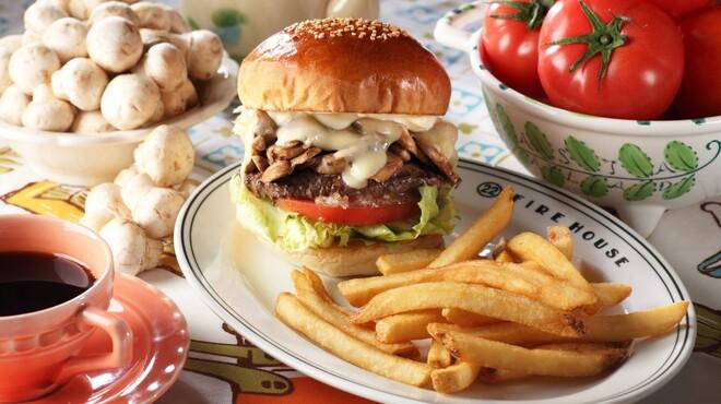 ファイヤーハウス - 料理写真:モッツァレラマッシュルームバーガー