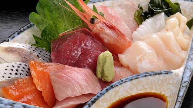 みちのく料理 西むら - 料理写真:盛り刺し定食 新鮮なお刺身がたっぷり!