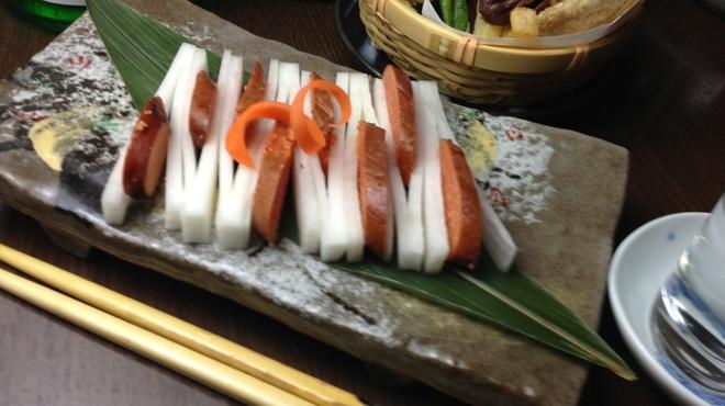 醸し屋 素郎slow - 料理写真:ほうじ茶とウィスキーチップで燻製に!