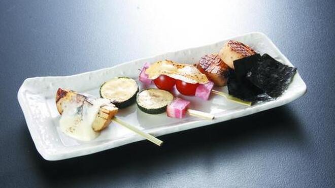 円山 古今 - 料理写真:季節串、変わり串6種類