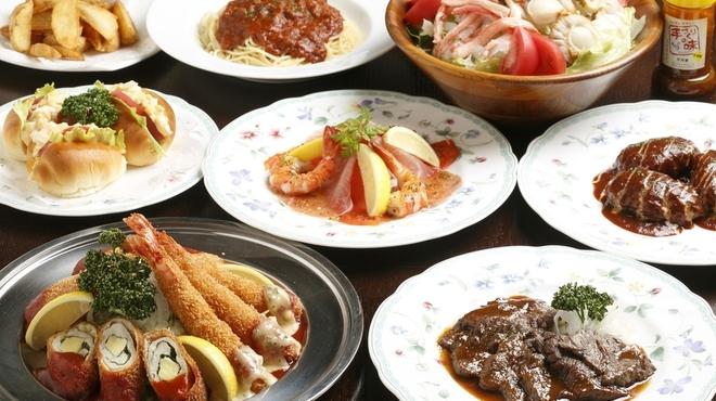 サラダの店サンチョ - 料理写真:バイキングコース:大皿で盛り付けられた料理をコース仕立で順番にお出します。