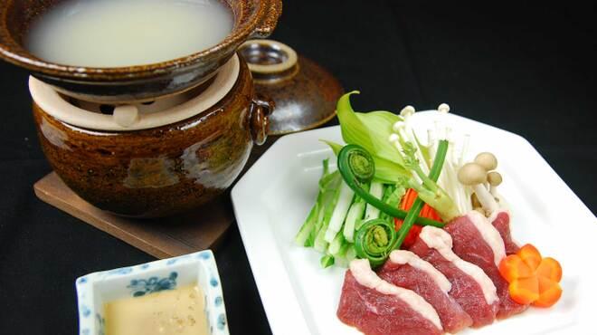 蕎麦切 宮下 - 料理写真:こだわりの津軽鴨を蕎麦湯鍋のしゃぶしゃぶで
